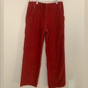 Red Corduroy Pants Size 10 P